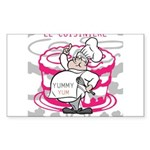 OYOOS Cook Cakes design Sticker (Rectangle 50 pk)