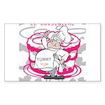 OYOOS Cook Cakes design Sticker (Rectangle)