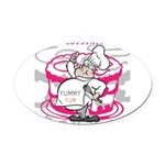 OYOOS Cook Cakes design Oval Car Magnet