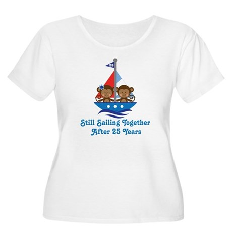 25th Anniversary Sailing Women's Plus Size Scoop N