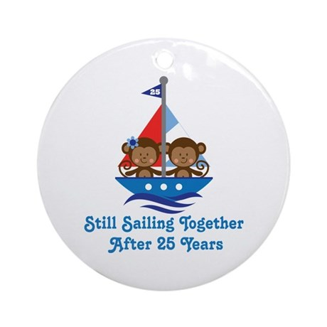 25th Anniversary Sailing Ornament (Round)