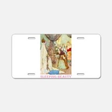 Sleeping Beauty Aluminum License Plate