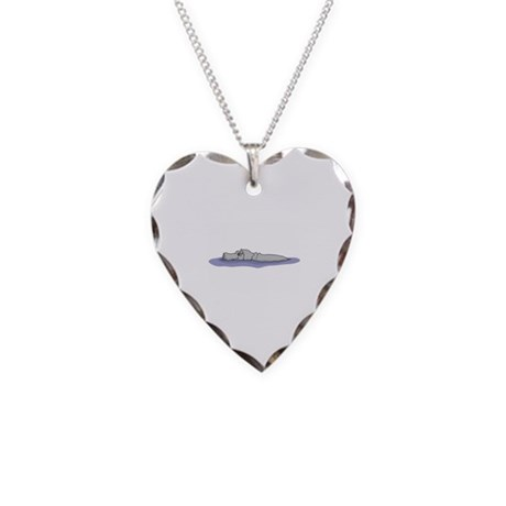 Swimming Necklace Heart Charm