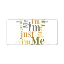 OYOOS Just Me design Aluminum License Plate