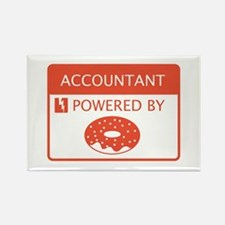 Accountant Powered by Doughnuts Rectangle Magnet