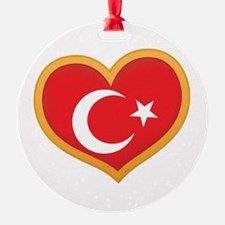 Turkish Flag Heart Ornament