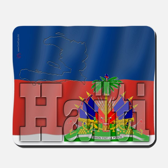 Silky Flag of Haiti (French) Mousepad