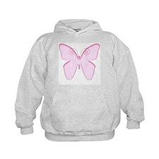 Pink butterfly design Hoodie