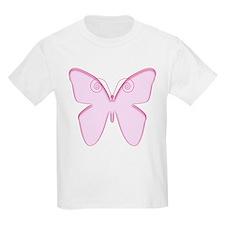 Pink butterfly design Kids T-Shirt