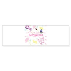 OYOOS Girls flower design Bumper Sticker