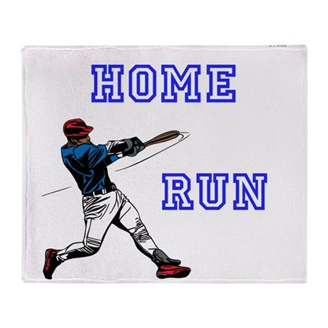 Oyoos home run baseball design throw blanket by oyoos Home run architecture