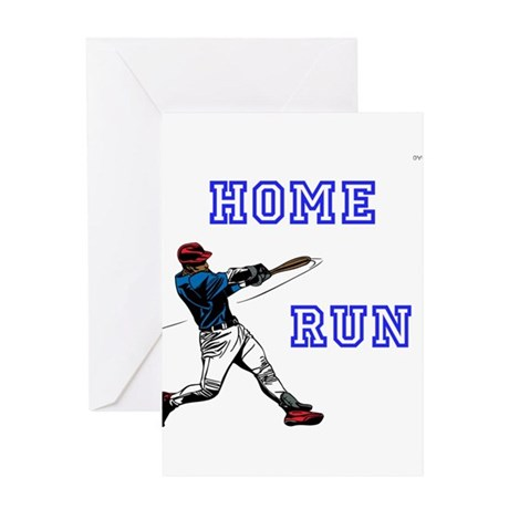 Oyoos home run baseball design greeting card by oyoos Home run architecture