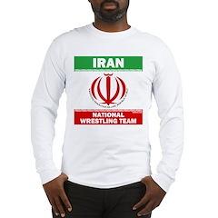Iran National Wrestling Team (white) Long Sleeve T