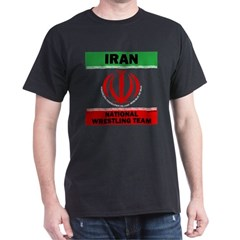 Iran National Wrestling Team (black) T-Shirt