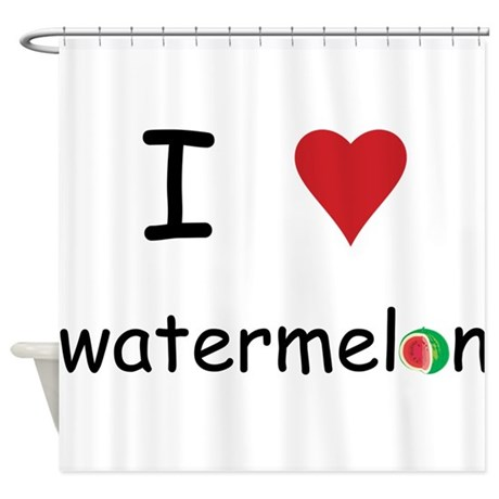 I Love Watermelon Shower Curtain