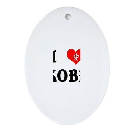 I heart Kobe Oval Ornament