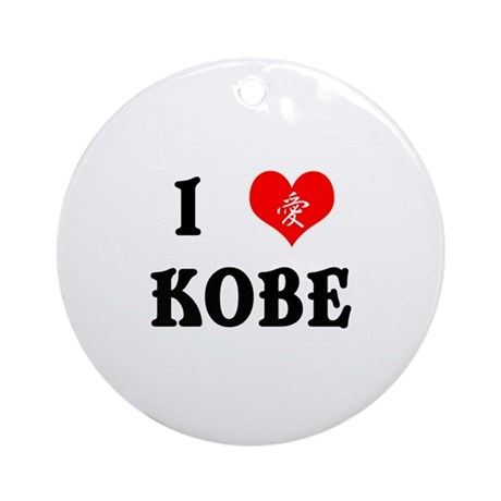 I heart Kobe Ornament (Round)