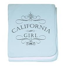 California Girl baby blanket