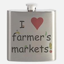 I Love Farmer's Markets Flask