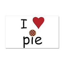 I Love Pie Car Magnet 20 x 12