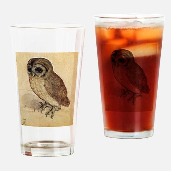 Durer The Little Owl Drinking Glass