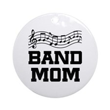 Band Mom Staff Ornament (Round)