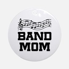 Band Mom Staff Ornament (Round)