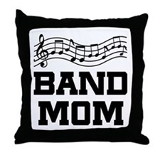 Band Mom Staff Throw Pillow