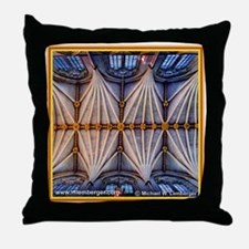 Westminster Abbey Ceiling Throw Pillow