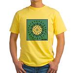 OYOOS Blue Moon design Yellow T-Shirt