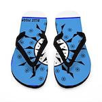 OYOOS Blue Moon design Flip Flops