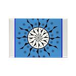 OYOOS Blue Moon design Rectangle Magnet (100 pack)