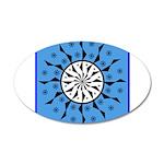 OYOOS Blue Moon design 20x12 Oval Wall Decal
