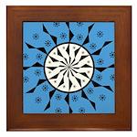 OYOOS Blue Moon design Framed Tile