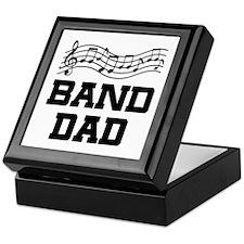 Band Dad Music Staff Keepsake Box