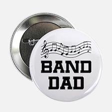 "Band Dad Music Staff 2.25"" Button"