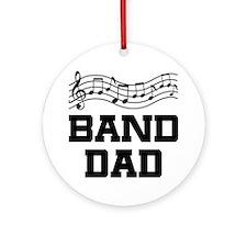 Band Dad Music Staff Ornament (Round)