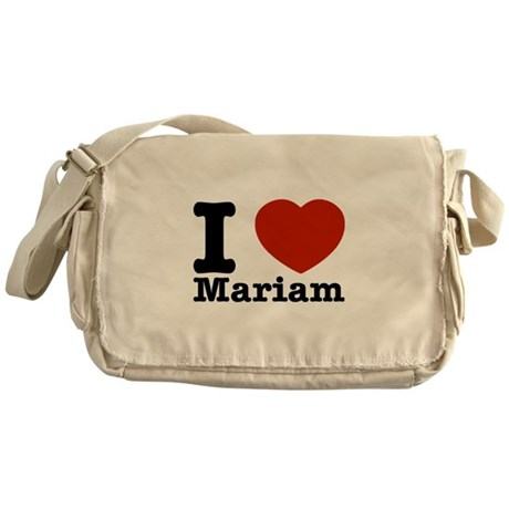 I Love Mariam Messenger Bag