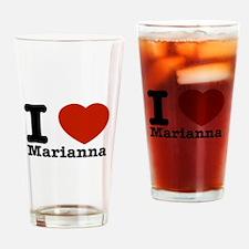 I Love Marianna Drinking Glass