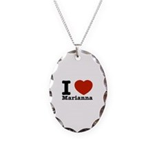 I Love Marianna Necklace Oval Charm