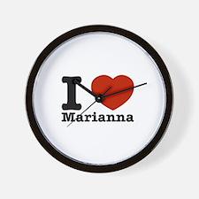 I Love Marianna Wall Clock