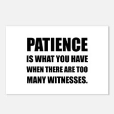 Patience Too Many Witnesses Postcards (Package of