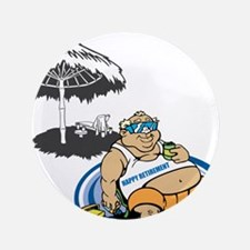 "OYOOS Happy Retirement design 3.5"" Button (100 pac"