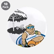 "OYOOS Happy Retirement design 3.5"" Button (10 pack"