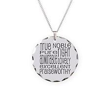 Philippians 4:8 Word Art Necklace