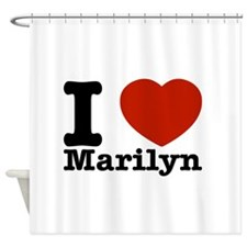 I Love Marilyn Shower Curtain