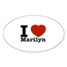 I Love Marilyn Decal