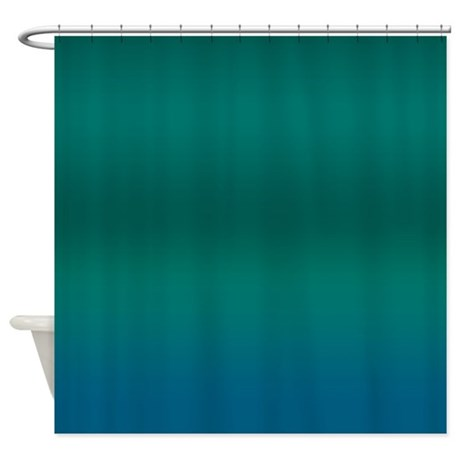 Tropical Blues Shower Curtain