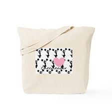 Cheerleader and a heart Tote Bag