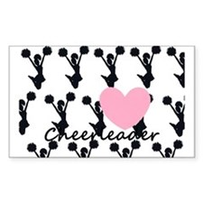 Cheerleader and a heart Decal